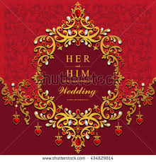 indian wedding card invitation wedding card invitation card card abstract stock vector 434829814