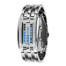 digital bracelet led watches images Multi function men 39 s watch stainless steel band led digital watch jpg