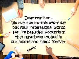 teachers day card message students inspirational words message