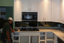2 Refaced Linen White With Chocolate Glaze Kitchen Archives