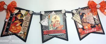 Happy Halloween Banners by Really Reasonable Ribbon Blog Vintage Halloween Banner