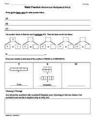 multiples worksheet grade 5 u0026 factors and multiples by chughes1155
