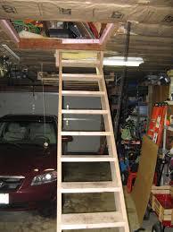 garage attic stairs home design styles