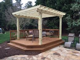 outdoor living relax patio pergola design with white wooden