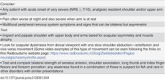 incidence of neuralgic amyotrophy parsonage turner syndrome in a