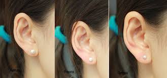6mm stud earrings sweet scrub silver earring stud fashion earrings jewelry