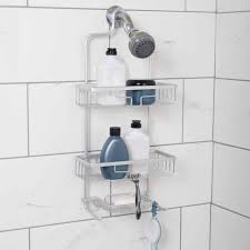 Shower Storage Ideas by Zenna Home Neverrust Aluminum Shower Caddy With 2 Bucket Shelves