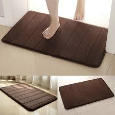 Memory Foam Rugs For Bathroom Useful 40 60cm Memory Foam Cing Mat Bathroom Horizontal Stripes