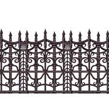 halloween border black and white amazon com beistle creepy fence border 24 inch by 30 feet