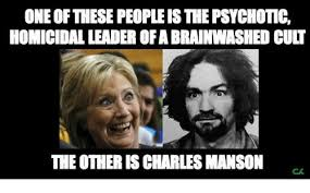 Charles Manson Meme - one these peopleisthepsychotic homicidal leaderofabrainwashed cult