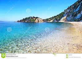 Ithaca Greece Map by Gidaki Beach Ithaca Greece Stock Photo Image 70738381