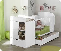 chambre bébé modulable lit bébé évolutif combiné jooly blanc 70x140 cm