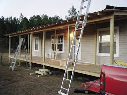 How To Build A Freestanding Patio Roof by 9 Beautiful Manufactured Home Porch Ideas