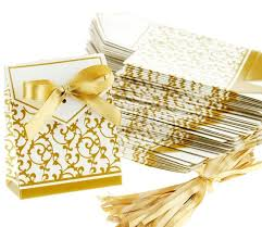 gold favor bags wedding favour favor bag sweet cake gift candy wrap paper boxes