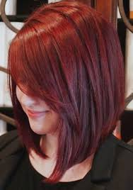 red brown long angled bobs image result for long angled bob with side swept bangs red my next