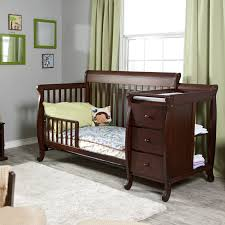 black crib with changing table convertible crib and changing table baby fall s room colors