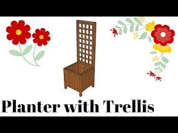 Wooden Planter Plans Howtospecialist How by How To Build A Planter With Trellis Howtospecialist How To