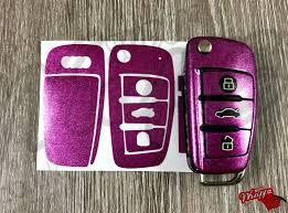 pink audi liliac pink glitter key wrap cover case audi remotea1 a3 a4 a5 a6