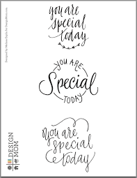 you are special today plate book design