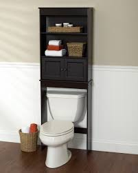 enchanting black bathroom space saver over toilet with drawers and
