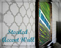 living room accent wall with cutting edge stencils ask