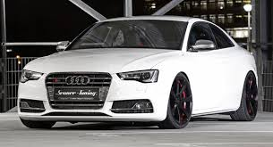 audi s5 coupe white senner tuning muscles up the facelifted audi s5 coupe