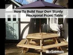 Building Plans For Hexagon Picnic Table by 18 Best Picnic Tables Images On Pinterest Picnic Table Plans