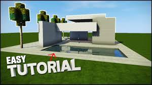 minecraft house tutorial sleek modern house best house tutorial