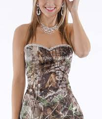wholesale free shipping strapless sweetheart beading camo prom