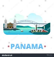 panama country flat cartoon style historic stock vector 435581764