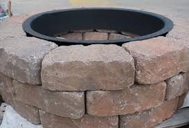 Round Brick Fire Pit Design - simple brick fire pit cool simple brick patio designs with fire