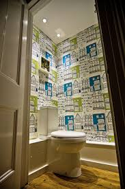 funky bathroom wallpaper ideas colourful quirky cloakroom the brighton bathroom company