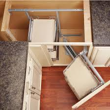 blind corner kitchen cabinet organizers rev a shelf premiere blind corner kitchen cabinet system with corner