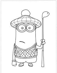 despicable minion coloring pages kids coloring