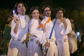 Halloween Costume Princess Leia Halloween Revelers Superheroes Killer Clowns Celebrate