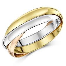 russian wedding band 9ct russian wedding ring multi tone 3 colour gold band three