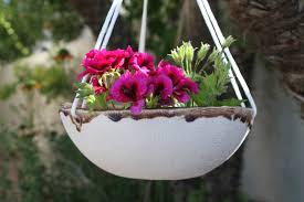 hanging planter ceramic handmade planter hanging flower pot large