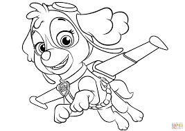 skye flying coloring page free printable coloring pages