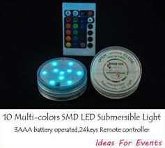 Led Vase Base Light Aliexpress Com Buy 4pcs Battery Powered Light Up Vase Base Rgb