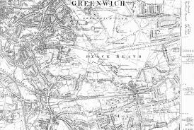 Greenwich England Map by Lewisham Running Past