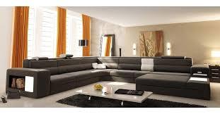 canapé 10 places deco in canape panoramique cuir gris angle droit venise