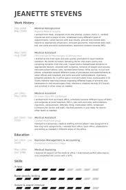 Resume Examples Medical Assistant by Download Sample Medical Receptionist Resume Haadyaooverbayresort Com
