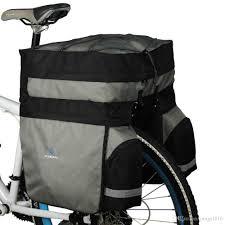 cycling waterproofs roswheel 60l waterproof bicycle bag panniers double side rear rack