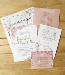 Wedding Invitation Suites Roman Paolo And Graciel Ann Bespoke Suite Old Rose Wedding