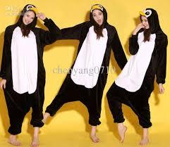 Halloween Penguin Costume Cartoon Animal Black Penguin Lonesies Onesie Pajamas