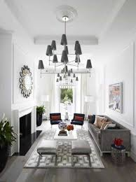 Narrow Living Room Design by Narrow Living Room Design With High Ceiling And Large Chandeliers