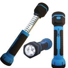 Magnetic Base Work Light Rechargeable Led Flashlight Torch Telescoping Retractable Work