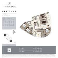 dubai mall floor plan address residence sky view emaar properties