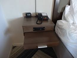 nightstand l with usb port slide out night stand and usb ports in the power outlet are awesome