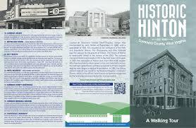 Milb Map Historic Hinton A Walking Tour Brochure Starry Eyes Media